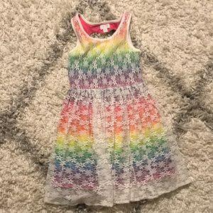The children's place rainbow dress size 7/8